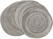 U'Artlines Placemats sets of 6 Round 15 inch