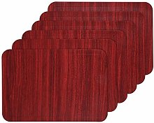 U'Artlines Placemats,Waterproof Faux Leather