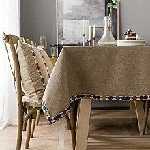 U/A Non-Slip Rectangular Table Cloth, Cotton Linen