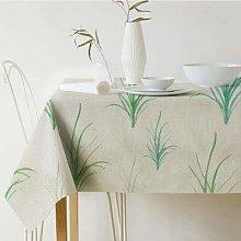 U/A Rectangular Table Cloth, Palm Leaf Pattern