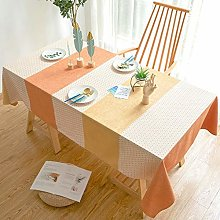 U/A Striped Pattern Table Cloth, Rectangular Table