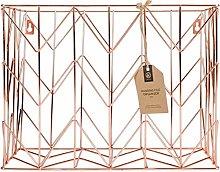 U Brands 854U02-06 Wire Hanging File Basket,