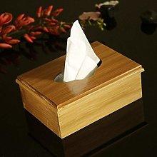 U/D Bamboo Tissue Box Flip Cover Storage Box