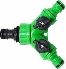 U/D LCMUS Irrigation Y connectors 2 Way tap Garden