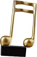 U/D Resin Music Shaped Sculpture Ornament Figurine