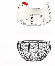 U/K Egg Refrigerator Basket, Ceramics, Creative