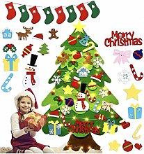 U/N DIY Felt Christmas Tree with LED lights,