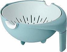 U/N Drain Basket, Colander Plastic with Handle,