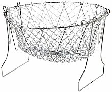 U/N Foldable Strainer Colander, Frying Basket -