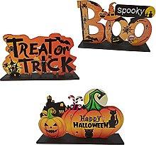 U/N Wooden Halloween Pumpkin Pendant, Wooden
