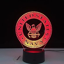 U.S. Navy 3D Illusion Lamp 16 Colors Led Night