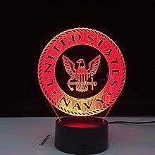 U.S. Navy 3D Night Light for Kids Toys for Boys 3D