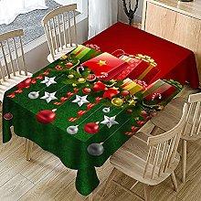 UAANG Table Cloth Rectangular,Christmas Table