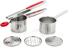 UberChef Potato Ricer Set with 3 Ricing Discs