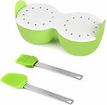 Ububiko Eggs Cooking Eggs Double Steamer Silicone