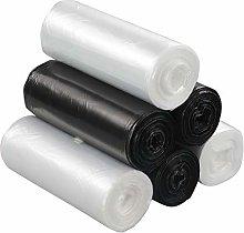 Ucake 5 Litre Clear Black Bin Liners Bags Trash