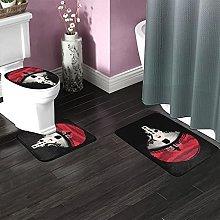 Uchiha Itachi Bathroom Rugs Set Non-Slip Water