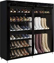 UDEAR Shoe Rack Boot Style 27 Pairs 6 Tier