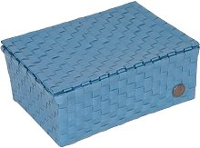 Udine Plastic Basket Handed By Colour: Stone Blue