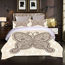UDUVOG Bedding Set 135X200Cm Animal Butterfly