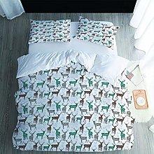 UDUVOG Bedding Set 230X220Cm Animal Elk Duvet