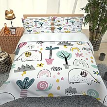 UDUVOG Double Duvet Cover Set Cartoon Animal And