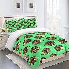 UDUVOG Duvet Cover, Animal Hedgehog Pattern Quilt