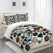 UDUVOG Duvet Cover King 230X220 Cm Animal Dog
