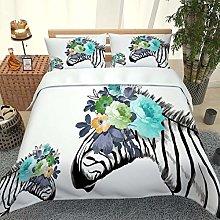 UDUVOG King Duvet Cover Set Creative Animal Zebra