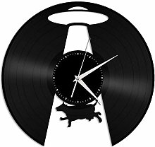 UFO vinyl wall clock, vinyl record home decoration