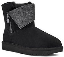 Ugg Classic Caviar Mini Ankle Boot - Black