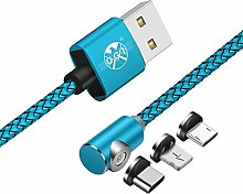 UGI L Shape Cable for iOS Android 3 in 1 Magnetic