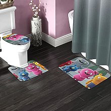 Uglydolls Bathroom Rugs Set Non-Slip Water