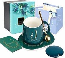 UHAPEER Coffee Mug Cup,Printed Alphabet Porcelain