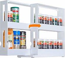 UHAPEER Spice Rack Extendable Jar Holder, Rotating