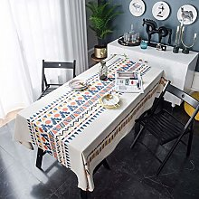 Uhgkt tablecloth Geometric multicolor printed