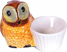 Uhu Owl Egg Cup Egg Holder Set Ceramic Handmade