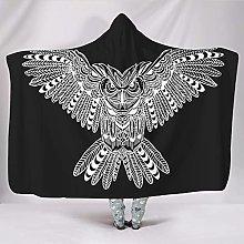 Uicoomhill Giant Owl Hooded Blanket Office Robe