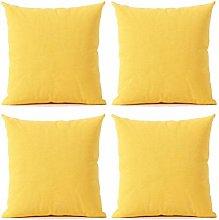 Uioy Pure color cotton linen pillow cushion