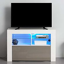 (UK Stock) Modern 100cm High Gloss TV Unit Cabinet