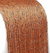 UKAP Tassel curtain String Panel Glitter Door Wall