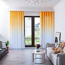 UKAP Window Curtain Simple Solid Gradient Color