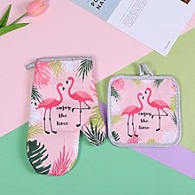 UKKD Oven gloves 2Pcs 1 Set Cotton Fashion