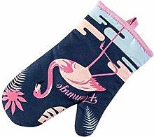 UKKD Oven gloves Cartoon Flamingo Microwave Oven