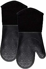 UKKD Oven Gloves Silicone Oven Mitts With Quilted