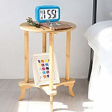 Ukmaster Wood End Table 2-Tiers Bamboo End Table