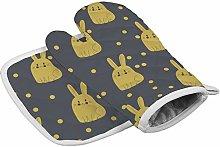 UKSILYHEART Oven Mitts Insulation Gloves Yellow