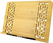 Ulable Book Rest, Bamboo Cookbook Holder, Music