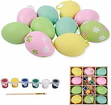 Ulikey Pack of 10 Multicolour Plastic Easter Eggs