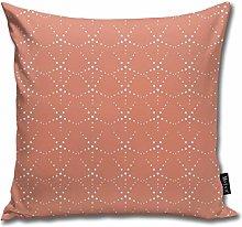Uliykon Art Deco Dot Scallop Rust Throw Pillow
